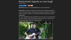 Braća Krstić objavila novi singl